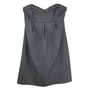 Shoshanna Black Beaded Cocktail Dress Sz 4